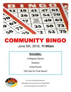 Elder Bingo Flyer